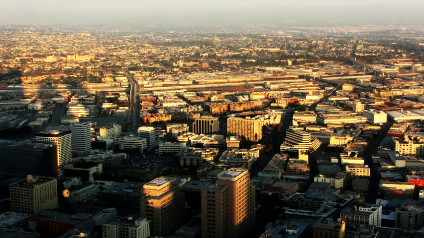 Los Angeles Sunset Cityscape 03 Timelapse