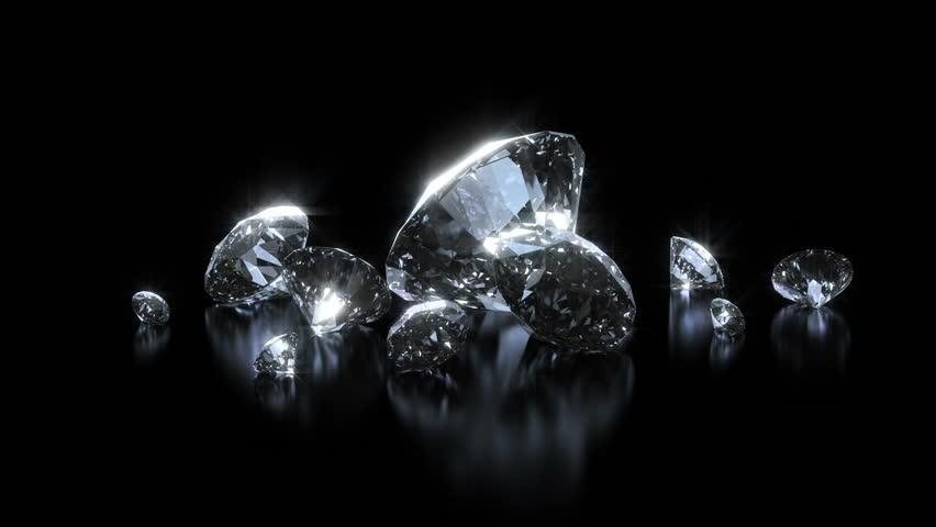 Beautiful Luxury Diamonds Background Looped Shining