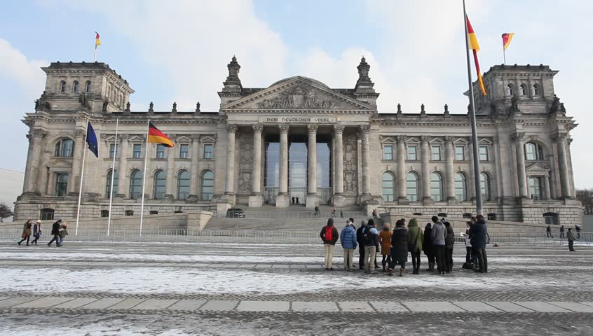 Reichstag in Berlin, Germany - HD stock video clip