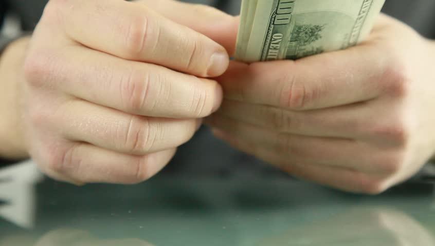 Money - HD stock footage clip