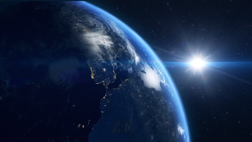 Close up of the earth rotating and looping forever with moving stars in the background   Shutterstock HD Video #3703118