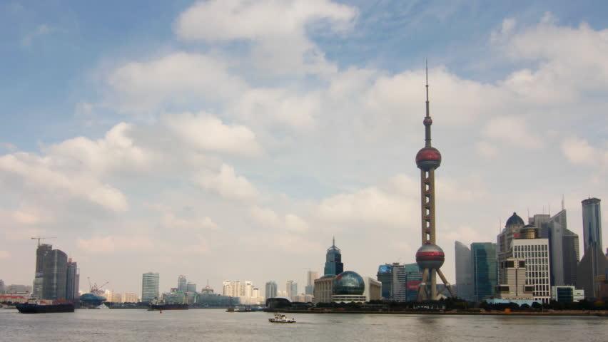 Time lapse of Shanghai skyline- Shanghai, China.