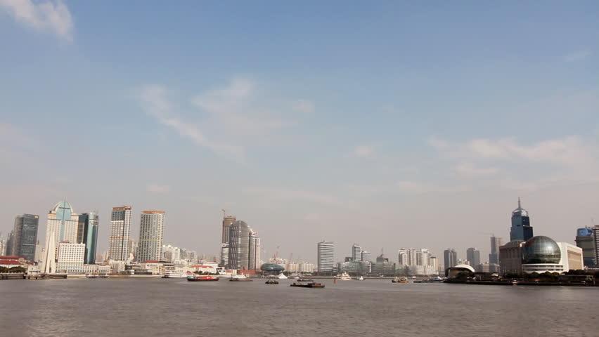 SHANGHAI - DECEMBER 19: Shanghai skyline. shot on December 19, 2012 in Shanghai,