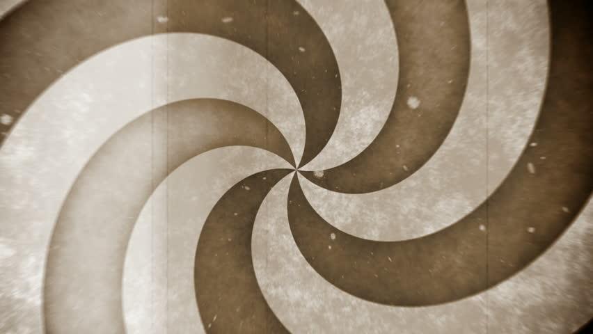 Vintage retro film hypnosis circle (seamless loop) - HD stock video clip