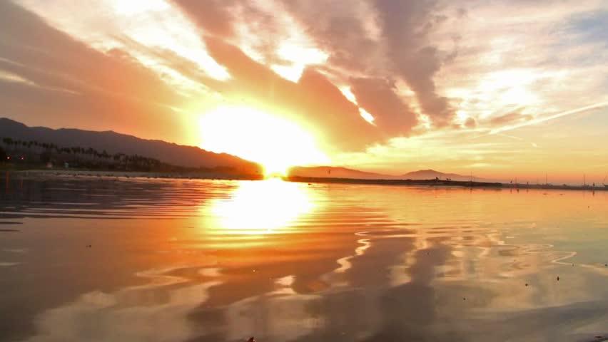 Sunrise in Santa Barbara Real Time