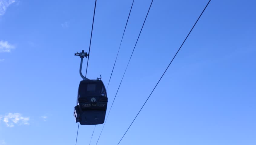 Overhead cable car - HD stock footage clip