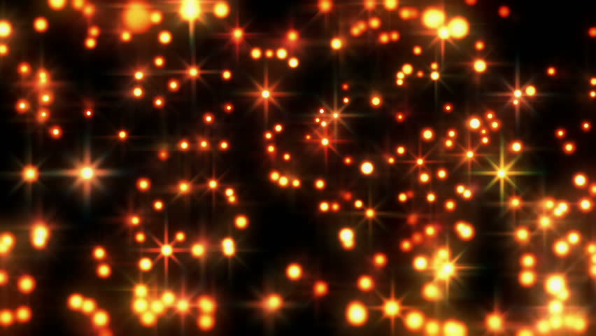 Star Bright Motion Background, Bright Golden Star Like Spheres Glowing Makes For A Fun Motion Background.