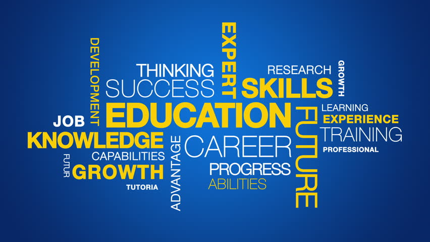 Education Word Cloud animation | Shutterstock HD Video #3809039