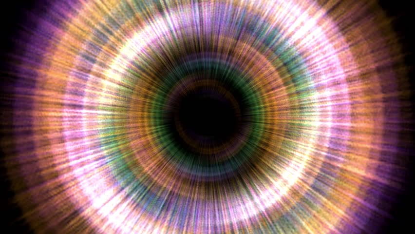 Hypnotic colorful swirling vortex - HD stock video clip