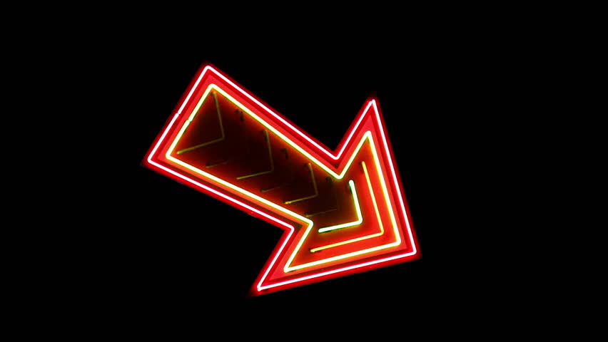 Vegas neon arrow sign | Shutterstock HD Video #3873173