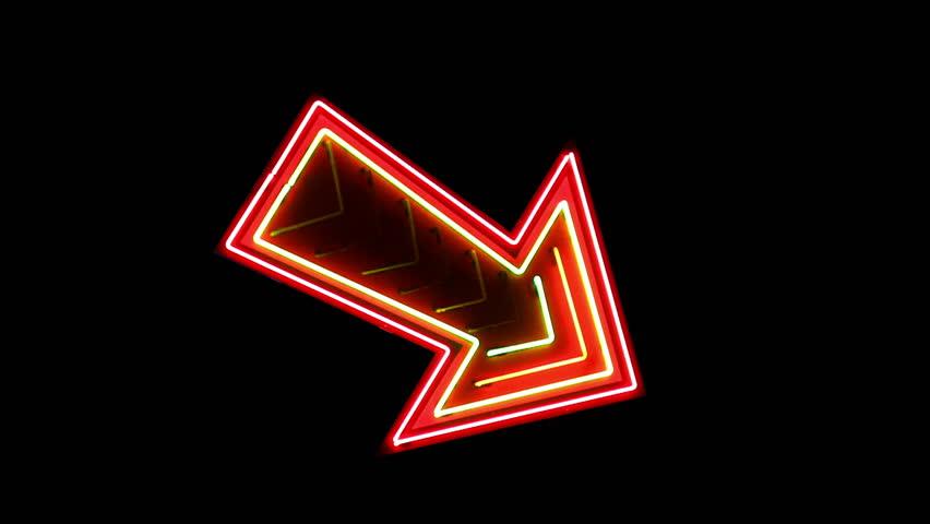 Vegas neon arrow sign