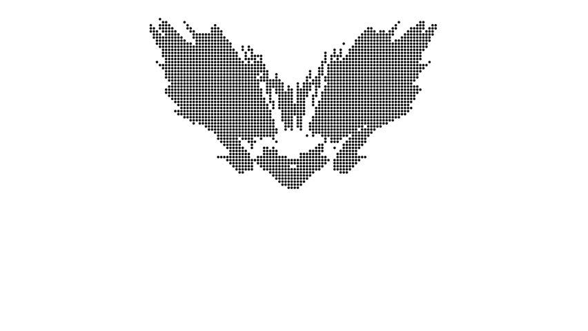 Dot Matrix Rorschach crest | Shutterstock HD Video #3873947