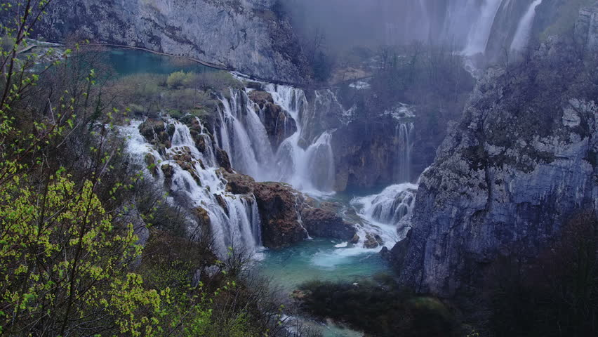 Plitvice lakes national park in croatia early morning vegetation just before it begin to - Plitvice lakes hd ...