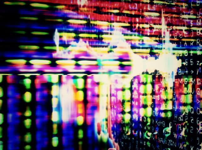 NTSC - Motion 866: Streaming digital data forms flicker, shift and pulse (Loop). | Shutterstock HD Video #3883334