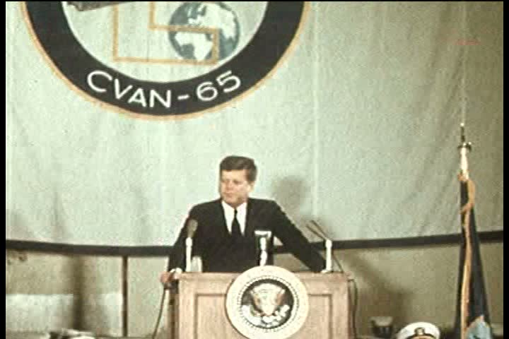 1960s - President John F. Kennedy visits Camp Lejeune to see the Army on parade and is visited by the Shah of Iran.