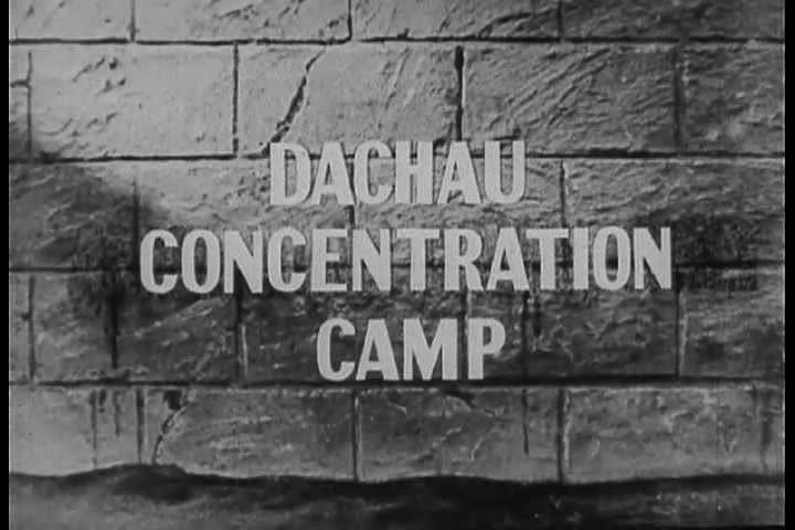 1940s - Footage of Dachau Nazi Concentration Camp victims. - SD stock video clip