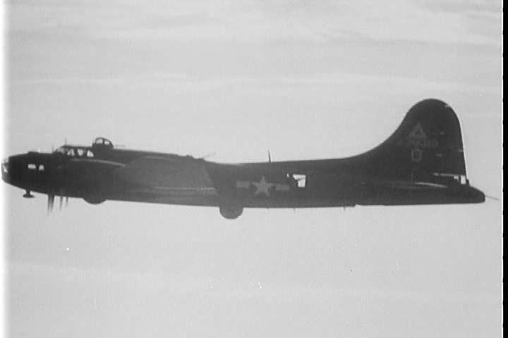 1940s - Air Force bombers are prepared for a run over Germany in World War Two.