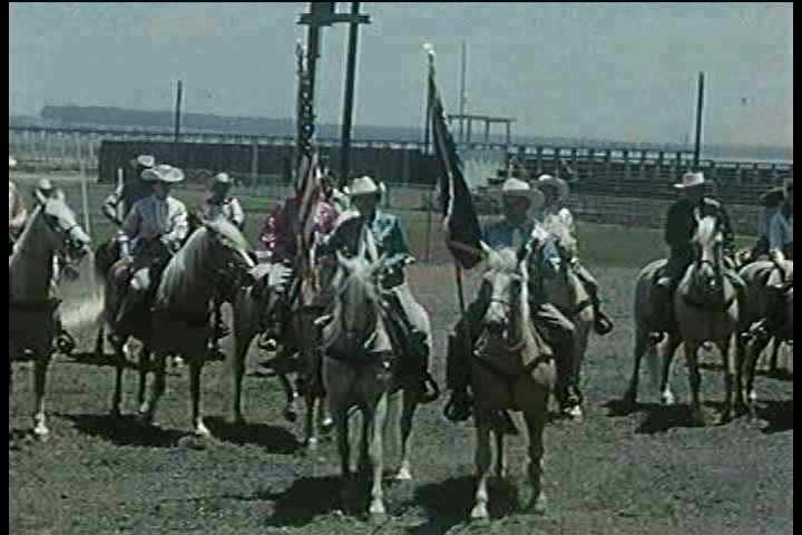 1950s - A 1950s horse show. - SD stock footage clip