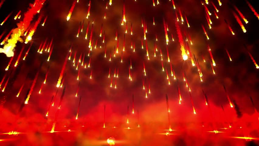 Fire rain loop