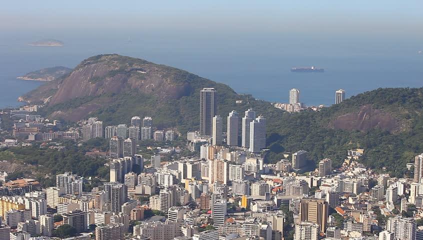Sugar loaf mountain Rio de Janeiro Brazil aerial view