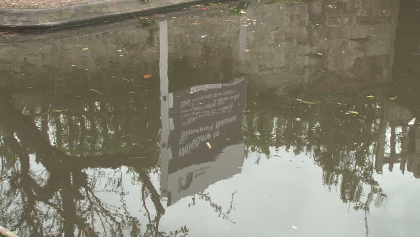 WORCESTERSHIRE, UK - CIRCA 2012:Sign for the canal basins moorings at the end of the Staffordshire and Worcestershire canal at Stourport-on-Severn. - HD stock footage clip