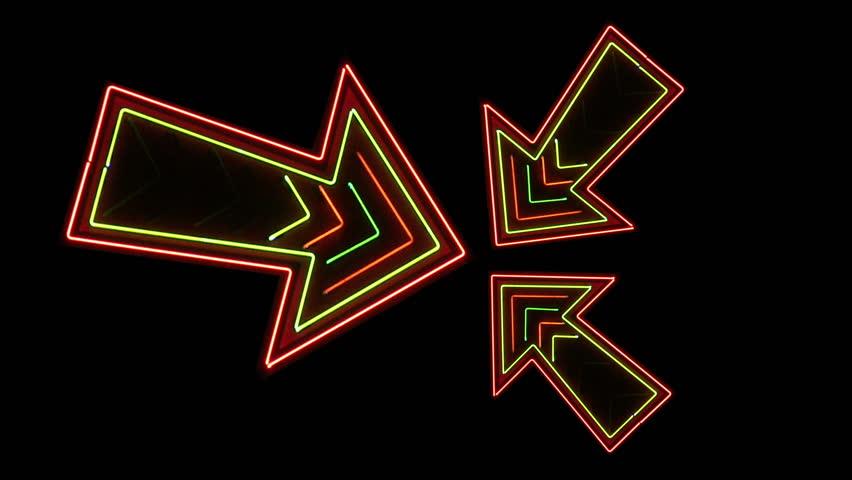 Three Neon Arrows Loop | Shutterstock HD Video #3950897