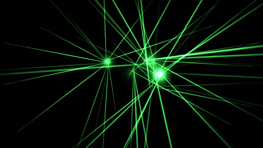 Electric Green Laser Beams - HD stock video clip