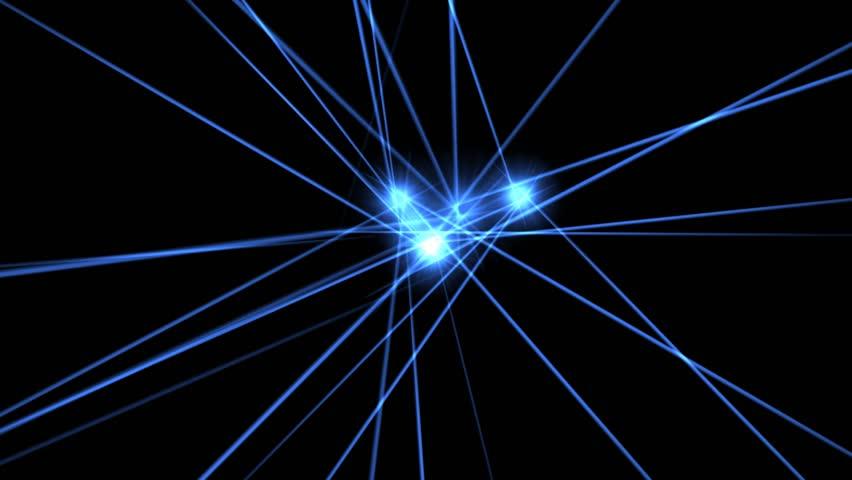 Electric Blue  Laser Beams