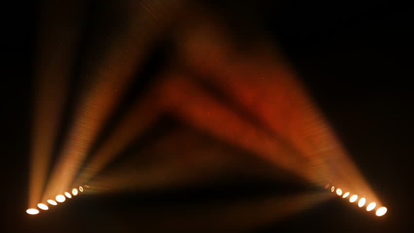 Bright stage lights flashing. Orange. SEE MORE OPTIONS IN MY PORTFOLIO. - HD stock video clip
