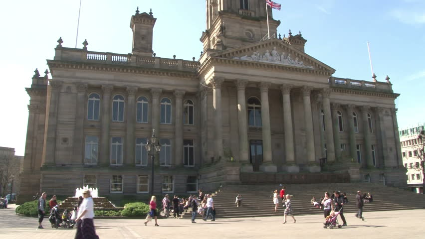 BOLTON, UK - MARCH 2012 : The large civic building of Bolton Town Hall in Greater Manchester.