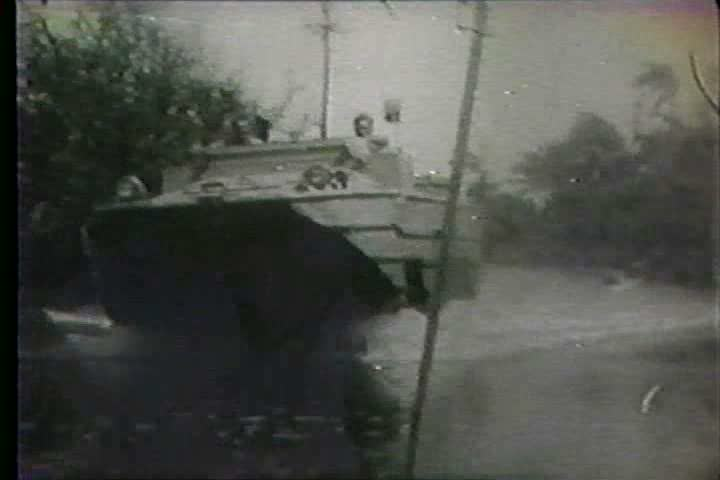 1960s - Hurricane Betsy forms in the Atlantic and threatens the coast of the US. - SD stock footage clip