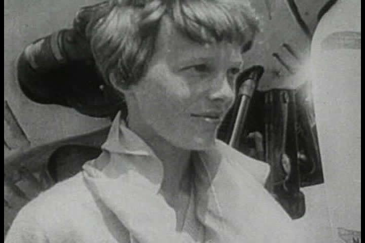 1950s - Newsreel feature: History of Flight - Amelia Earhart and WWII