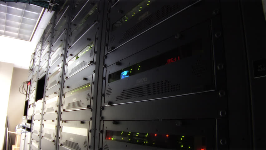 This high definition footage is of a server room - HD stock footage clip