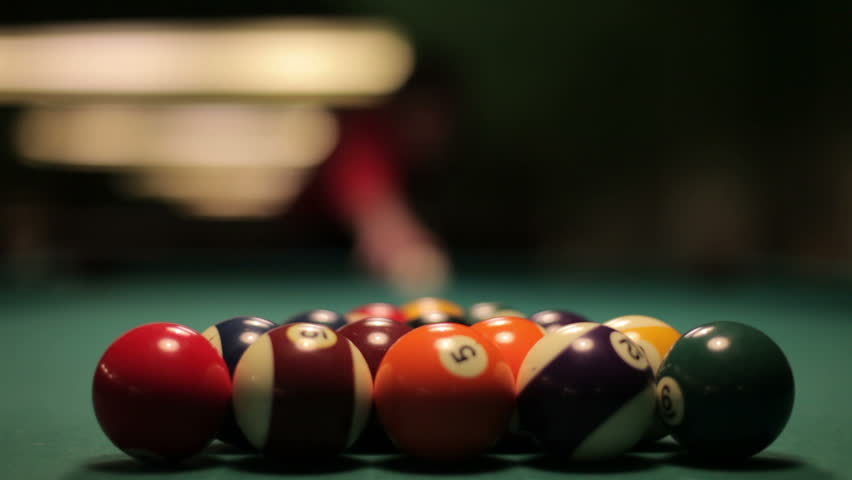 Pool Spread On Billiards Table. An opening spread on a pool table. This was shot with a 50 mm 1.4 Canon lens with a Canon Mark 5D2