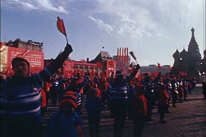 1960s - A military celebration in Red Square, Moscow in the 1960s.