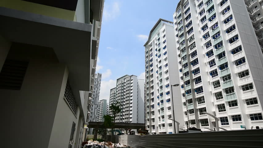 New Singapore government apartments - HD stock video clip