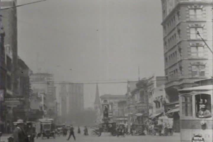 1920s - Good shots of Detroit, Michigan in 1921. - SD stock video clip
