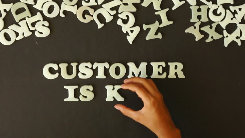 Customer is King - HD stock footage clip