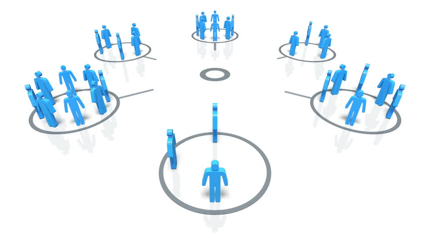 A concept graphic depicting  a group of people in a social group. Rendered against a white background with a soft shadow.