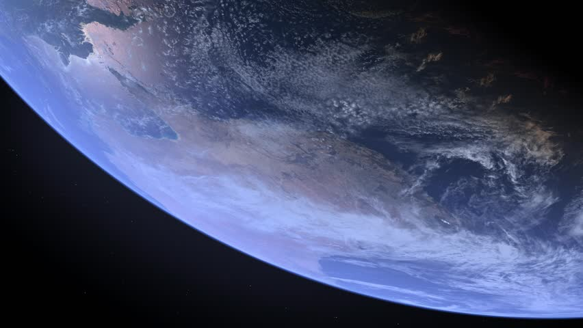 Stationary orbit above Australia on the Earth.