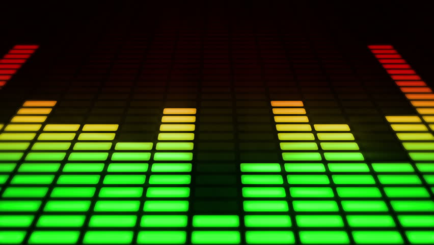 Audio equalizer. Loop-able. Multicolored. - HD stock footage clip