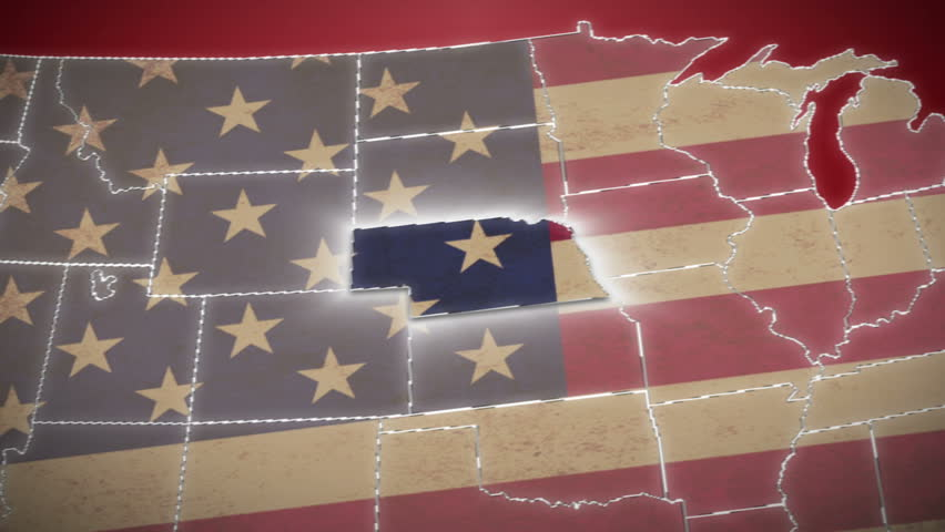USA Map Nebraska Pull Out No Signs Or Letters So You Can Insert - Hd us map background