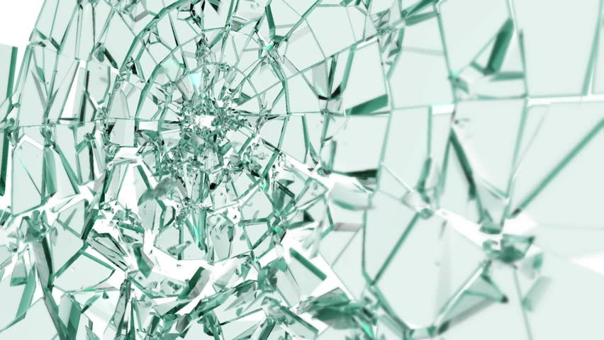Glass shattered by bullet perspective version. Comes with Alpha. - HD stock video clip