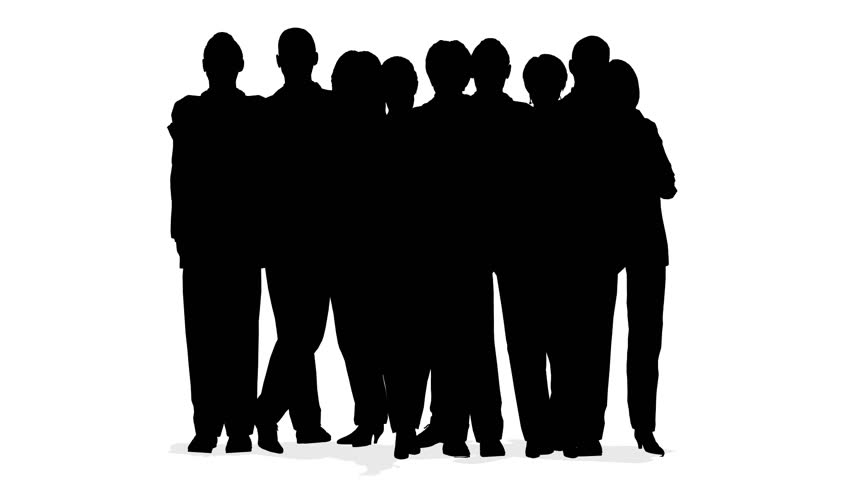 Silhouette Of Group Of People Holding Hands Stock Footage ...