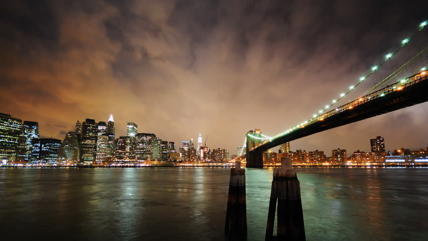 Brooklyn Bridge and New York City skyline