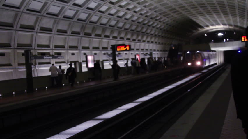 DC Metro Subway Train - HD stock footage clip