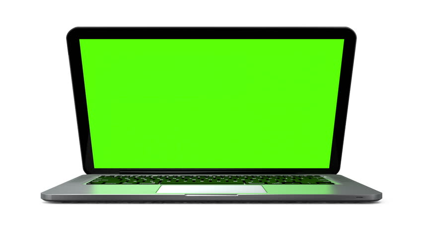 Modern notebook animation. Isolated on white background, chroma key | Shutterstock HD Video #4348571