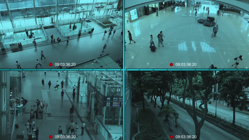 Split Screen Surveillance Camera Background Cctv Security