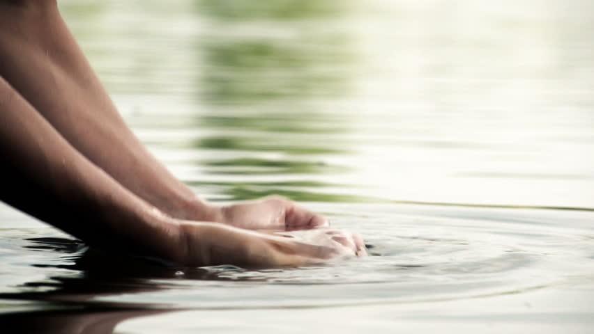 Water in the hands of men, Slow Motion | Shutterstock HD Video #4362359