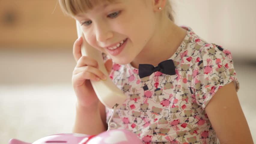 girl peeing while talking on phone